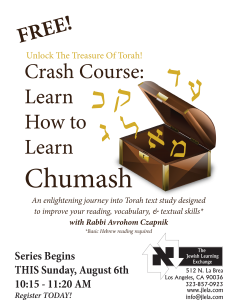 New Crash Course class starts this Sunday